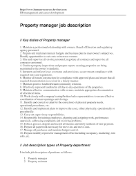 Property Manager Job Description Perfect See Inspiration Restaurant