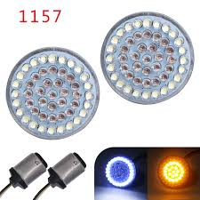 Bullet Led Lights Details About 2 1157 Bullet Style Led Front Turn Signal Lights Amber Halo For Motorcycle