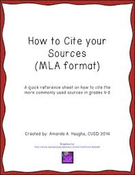 Citing Sources Reference Sheet Mla Format
