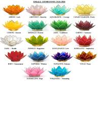 Lotus Flower Color Chart Lotus Flower Color Meanings Lotus Capiz Shell Candle
