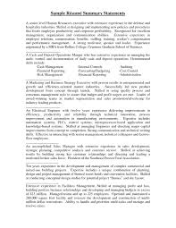 Resume Summary Statement Examples Best Business Template .