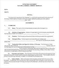 template for llc operating agreement operating agreement template operating agreement template free llc