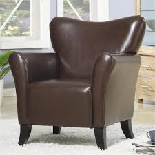 Leather Accent Chairs For Living Room Josie Accent Chair Brown
