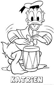 Katrien Donald Duck Naam Kleurplaat