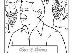 Hispanic Heritage Coloring Pages Cesar Chavez Worksheet Education Com
