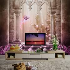 Wall Mural For Living Room Artwork Wall Murals For Living Room Sweet Dream Purple And Pink