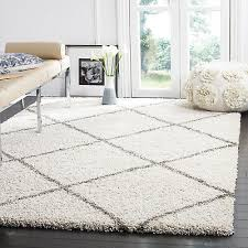 rug gray ivory diamond plush area rugs 11x15 deep pile modern room decor