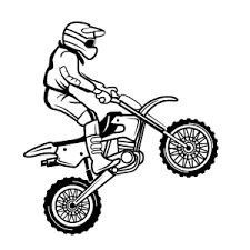 Kleurplaat Motercross