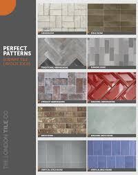 perfect patterns subway tile layout ideas