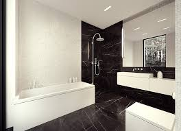 Image of: Black and White Marble Tile Color