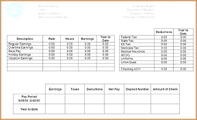 Free Payroll Stub Template Best Template For Payroll Checks Free Pay Stub Check Employee Word
