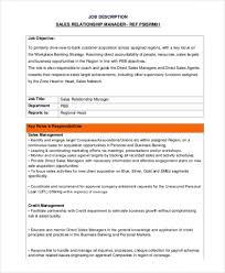 13 Sales Manager Job Description Free Sample Example Format Inside
