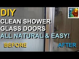 diy clean shower glass easy organic all natural