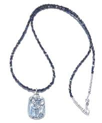 st francis assisi jewelry kindness to animals vintage glass seed bead necklace with a