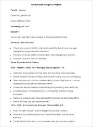 Sample Wal Mart Sales Manager Cv Template Write Your