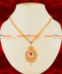 nckn114 gold plated imitation necklace semi precious cz ruby stone party wear big dollar design south indian jewelry 450 1 850x1000 jpg