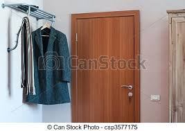 Hotel Coat Rack Standard Hotel Room With Door Wardrobe And Clothes On Coat Stock 30