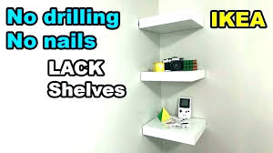 floating shelf ways to hack lack shelves makeup studio made with contemporary ikea organizer msia shelv