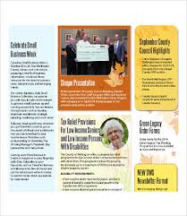 Newletter Formats Format Of A Newsletter Magdalene Project Org