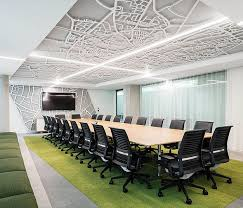 office meeting room design. kantoren gands office interior meeting room see more laser cut ceiling with green flooring in boardroom design