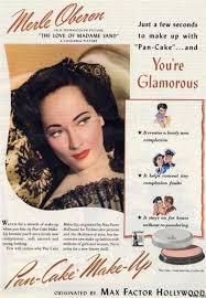history 1940s powder makeup