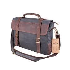 s zone vintage canvas leather messenger traveling briefcase shoulder laptop bag