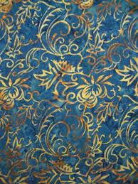Fancy Patterns Impressive Fancy Blue With Gold Leaf Pattern