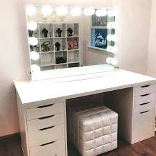 white vanity mirror with lights makeup set lovely dressing table regard room for 3 dressing mirror with lights white table