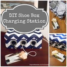 Make Charging Station How To Make A Diy Shoe Box Charging Station