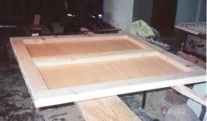 rear door frame under construction