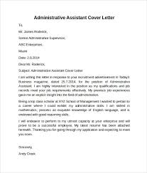 Cover Letter Examples Office Assistant Letters Font