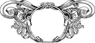 Vintage Ornate Circle Frame transparent PNG StickPNG