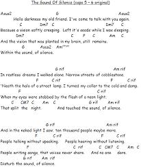 sound of silence lyrics n chords