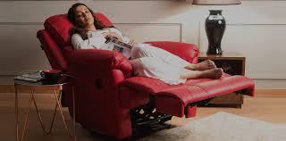 Image result for red leather recliner lazy boy
