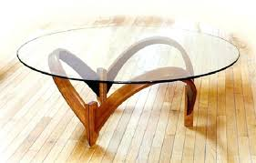 glass dining table wood legs side wooden round living room contemporary coffee furniture design ideas kitchen