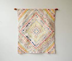 vintage quilt wall hanging small