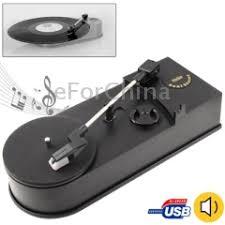EC008B, USB Mini Phonograph / Turntable / Vinyl ... - SUNSKY
