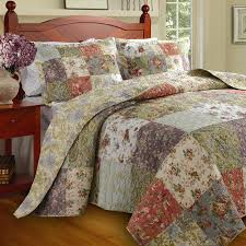 Amazon.com: Floral Patchwork Quilt & Bedding Set on Sale, 100 ... & Amazon.com: Floral Patchwork Quilt & Bedding Set on Sale, 100% Cotton,  Oversized King: Home & Kitchen Adamdwight.com