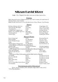 Acting Resume Template Download Musical Theatre Resume Template Cv Download Theater Org