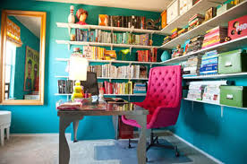 pink home office. brilliant pink room fu design guru robin callanu0027s home office features teal walls and a  hot pink on pink home office e