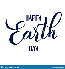 Original Photo Design Earth Day Original Hand Drawn Vector Lettering Stock Vector