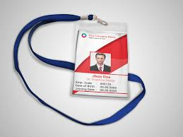 Company Id Card Template Corporate Official Id Card Template Freebie On Behance