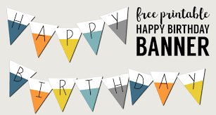 Happy Birthday Signs To Print Free Printable Happy Birthday Banner Paper Trail Design