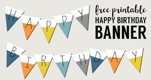 Birthday Banner Printable Free Printable Happy Birthday Banner Paper Trail Design