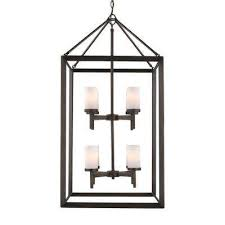 smyth 8 light metal bronze