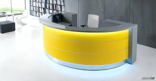 half round office desk white and yellow half circle reception desk office desk furniture used
