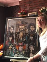 Johnny Depp fan appeals for star to come and visit her and see her  portraits ahead of the Glastonbury Festival - Somerset Live