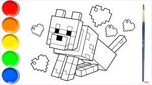 38+ Tranh tô màu Minecraft đẹp nhất cho bé tập tô