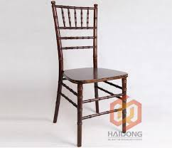 outdoor brown color solid wooden chiavari garden wedding chairs