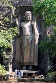 Rock Sculpture the aukana buddha sri lankas colossal standing rock statue 8657 by xevi.us